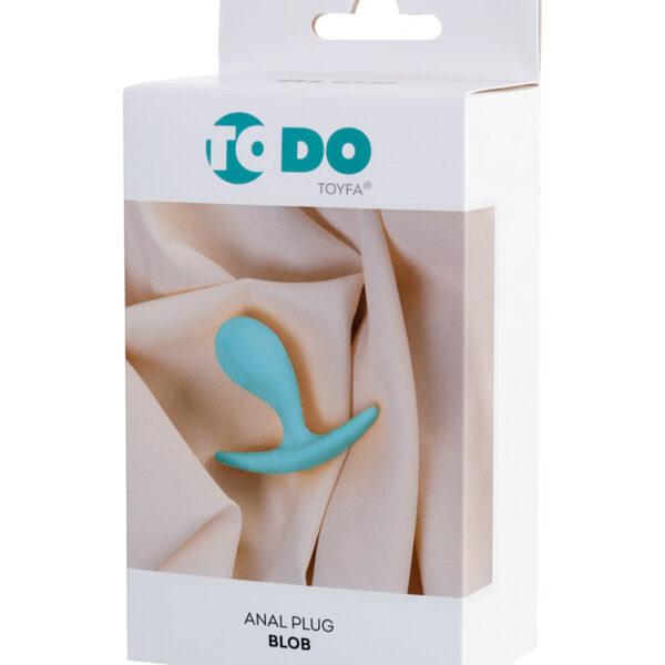 Анальная втулка ToDo by Toyfa Blob, водонепроницаемая, силикон, мятная, 5,5 см, Ø 2,1 см