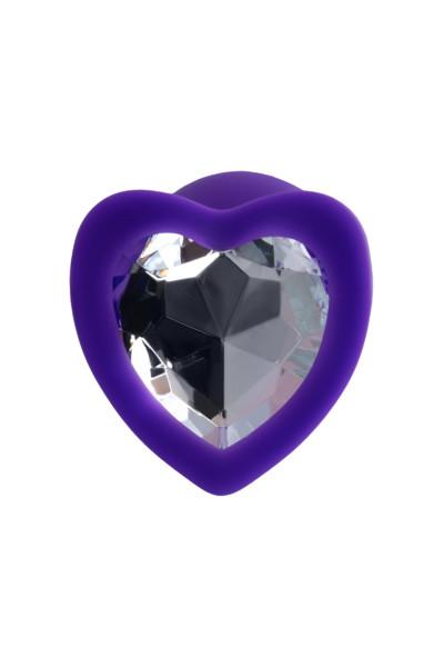 Анальная втулка ToDo by Toyfa Diamond Heart, водонепроницаемая, силикон, фиолетовая