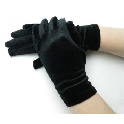 Перчатки бархатные черные