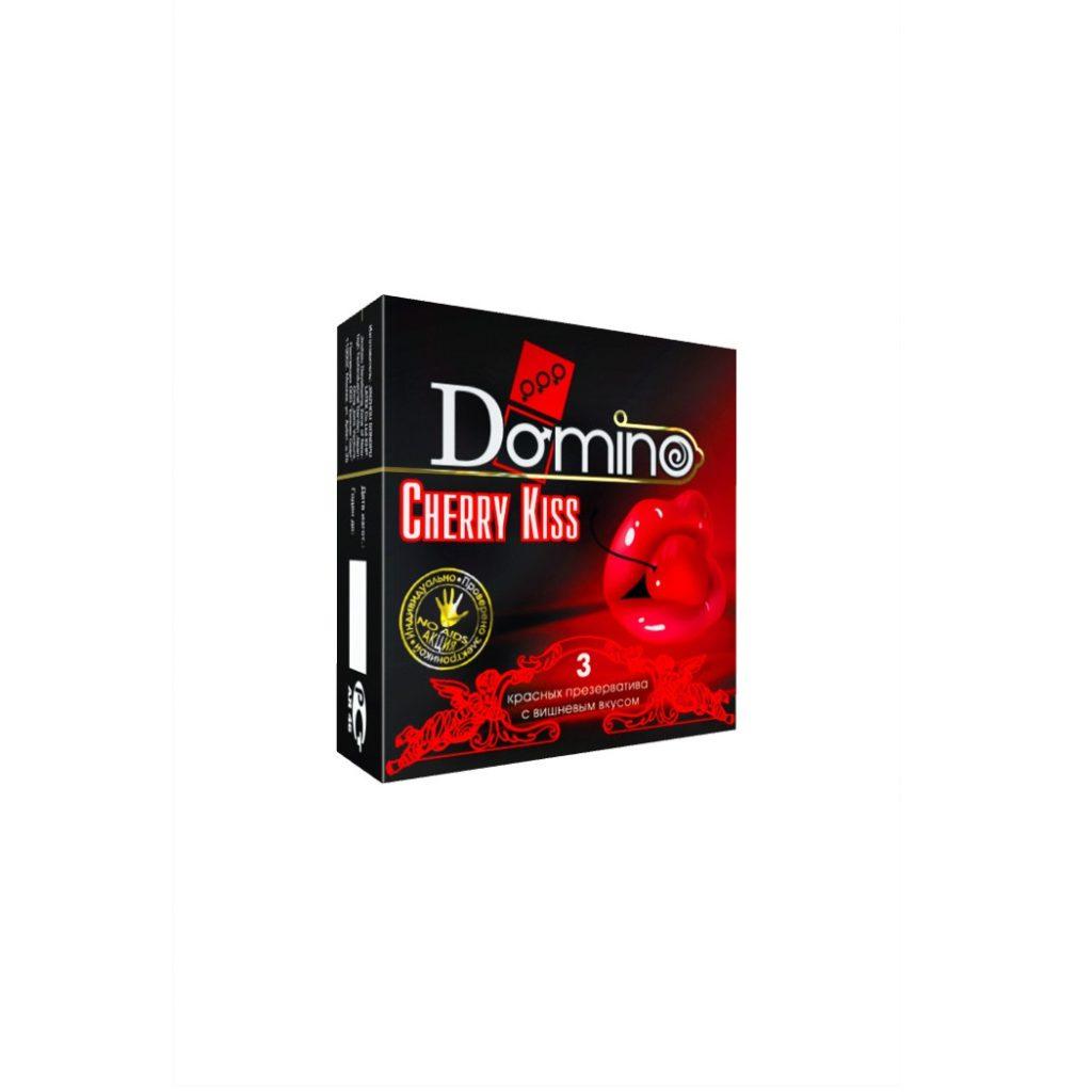 Презервативы Luxe DOMINO PREMIUM Cherry Kiss 3 шт. в упаковке