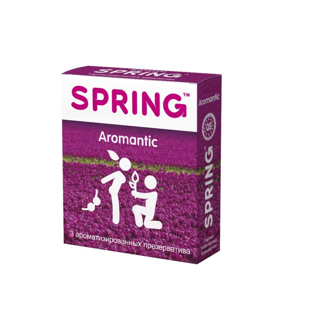 Презервативы Spring Aromantic, ароматизированные, латекс, 17,5 см, 3 шт