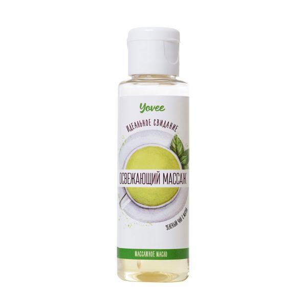 Масло для массажа Yovee by Toyfa «Освежающий массаж», с ароматом зеленого чая и мяты