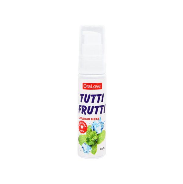 Съедобная гель-смазка TUTTI-FRUTTI для орального секса со вкусом сладкой мяты 30г