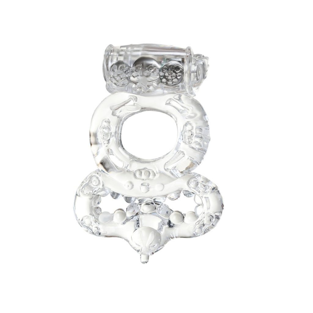 Двойное кольцо TOYFA с вибрацией