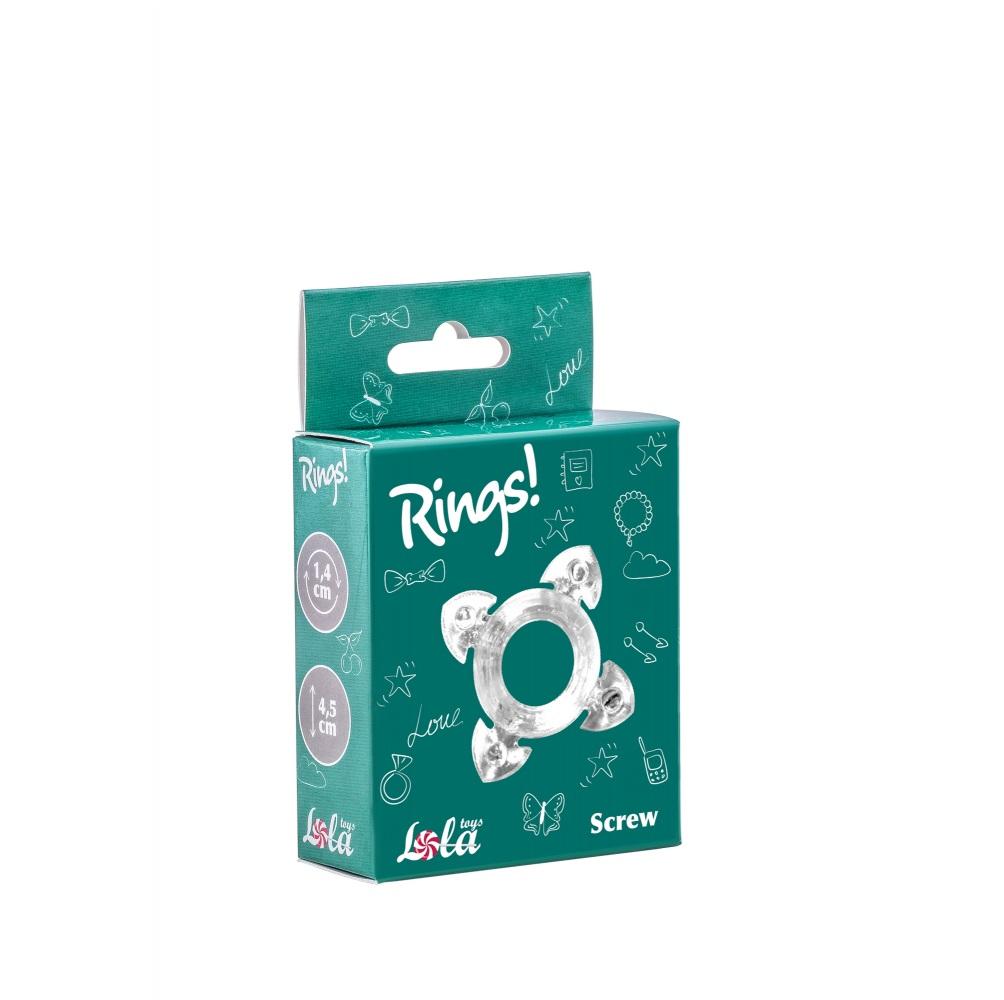 Эрекционное кольцо Rings Screw white