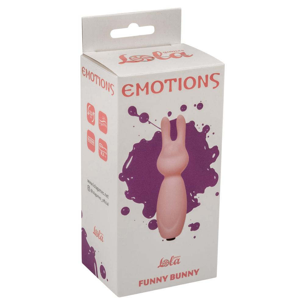 МИНИ ВИБРАТОР EMOTIONS FUNNY BUNNY LIGHT PINK1