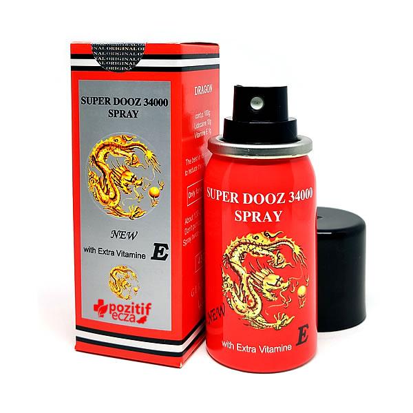 Спрей пролонгатор для задержки эякуляции Dragon's Spray - Super Dooz 34000 с витамином Е